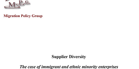 Supplier Diversity, the case of immigrant and ethnic minority enterprises