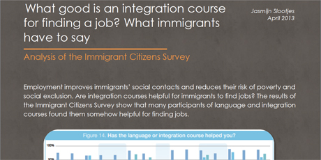 What good is an integration course for finding a job? What immigrants have to say