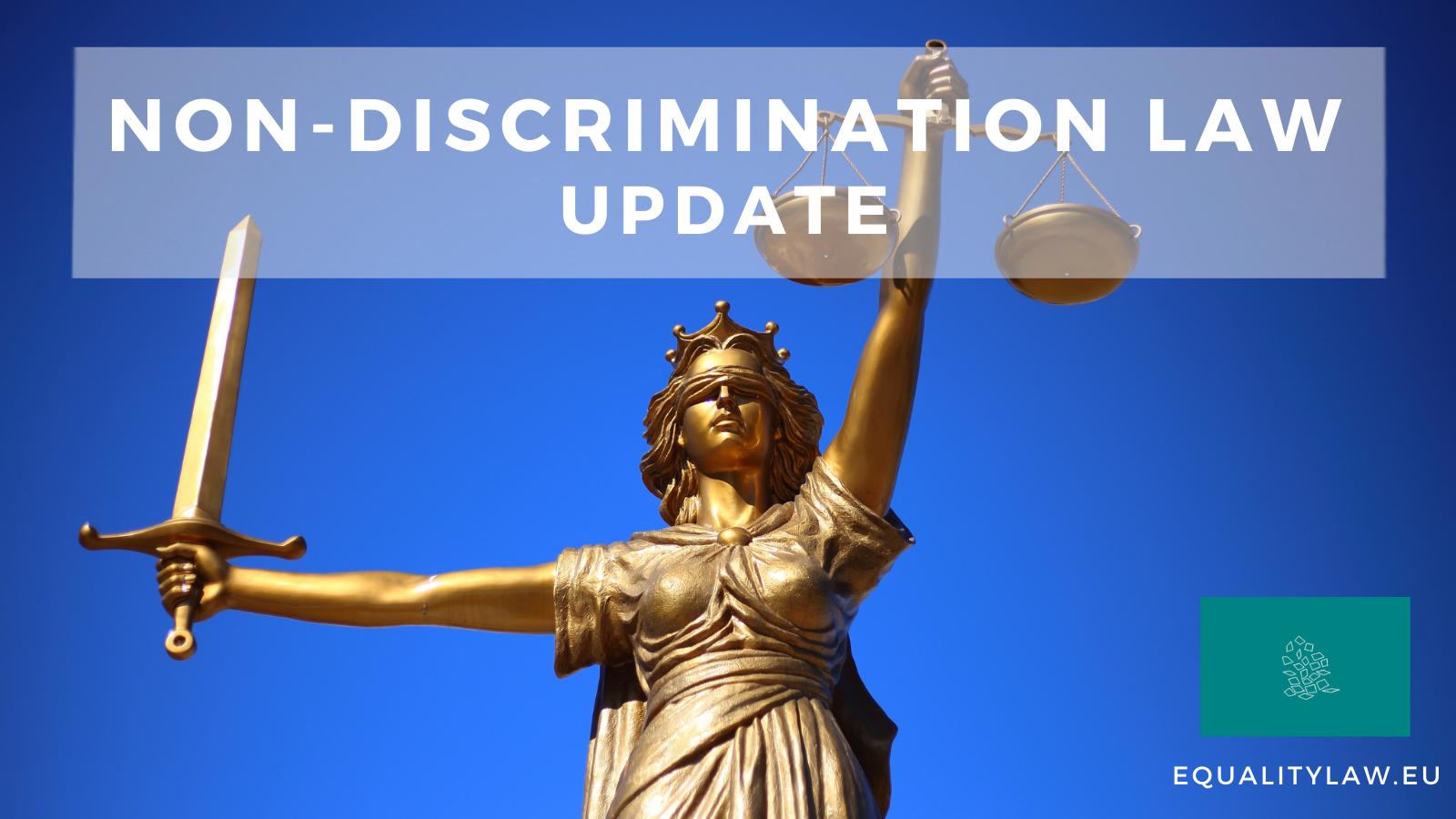 Non-discrimination law UPDATE
